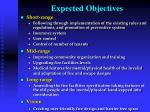 expected objectives