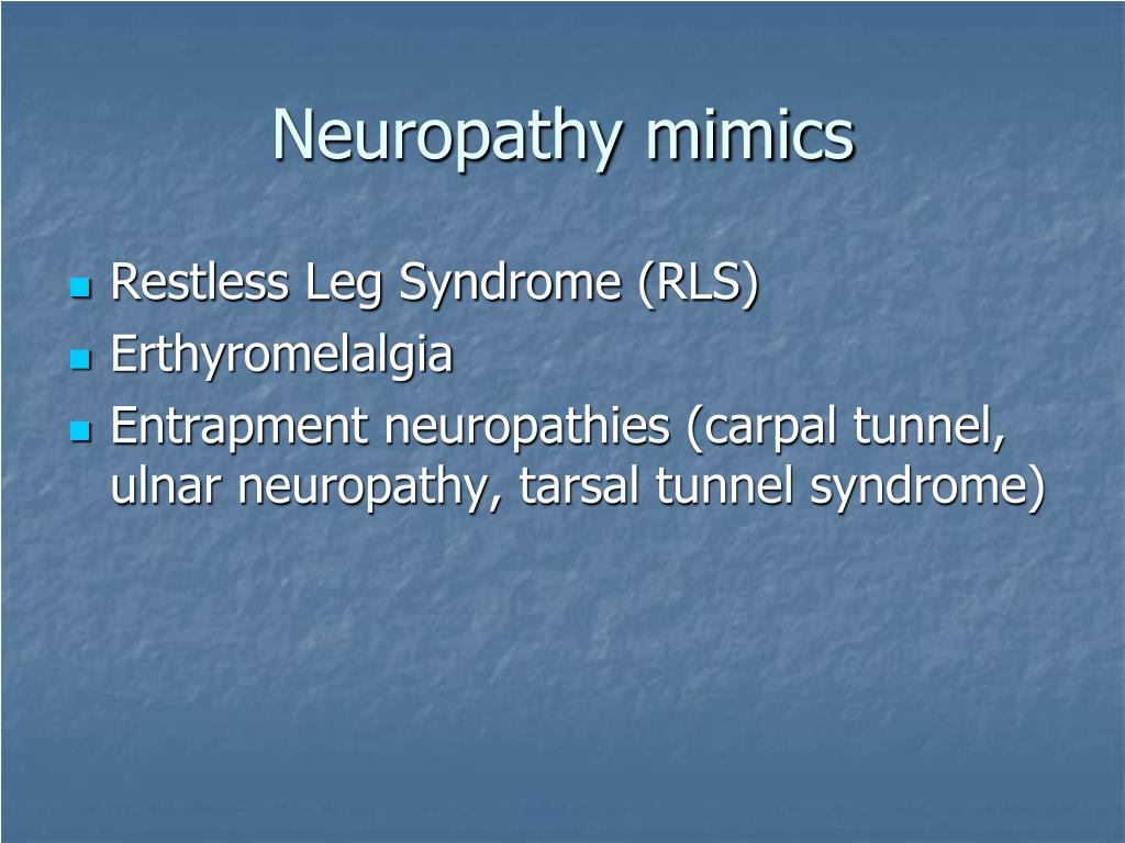 Neuropathy mimics
