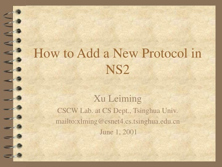 how to add a new protocol in ns2 n.