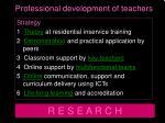 professional development of teachers