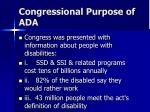 congressional purpose of ada