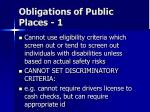obligations of public places 1