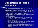 obligations of public places 3