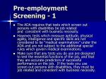 pre employment screening 1