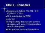 title i remedies