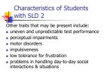 characteristics of students with sld 2