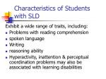 characteristics of students with sld