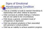 signs of emotional handicapping condition