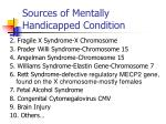 sources of mentally handicapped condition8