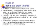 types of traumatic brain injuries