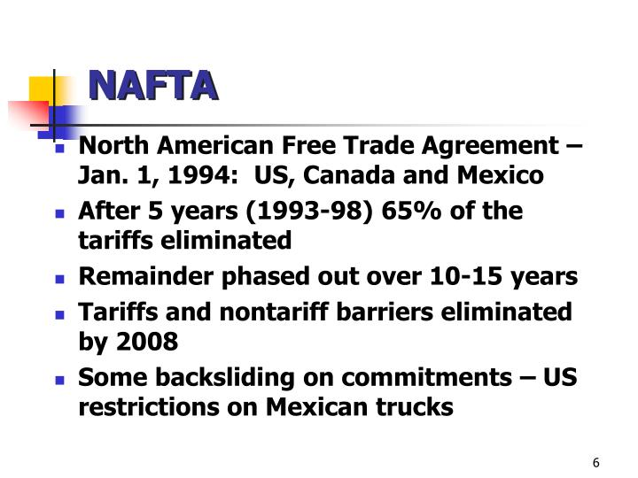 north american free trade law After a brief hiatus during the run up to the recent mexican elections, negotiations  on the north american free trade agreement (nafta) are in.