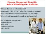 chronic disease and disability role of rehabilitation medicine