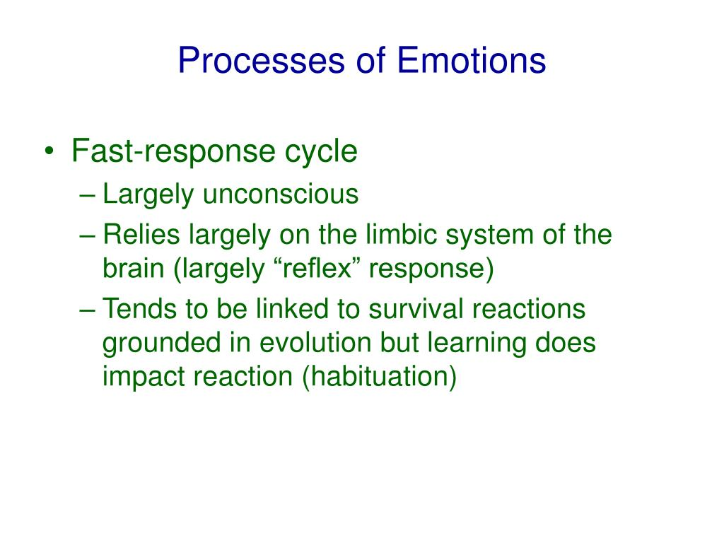 Processes of Emotions