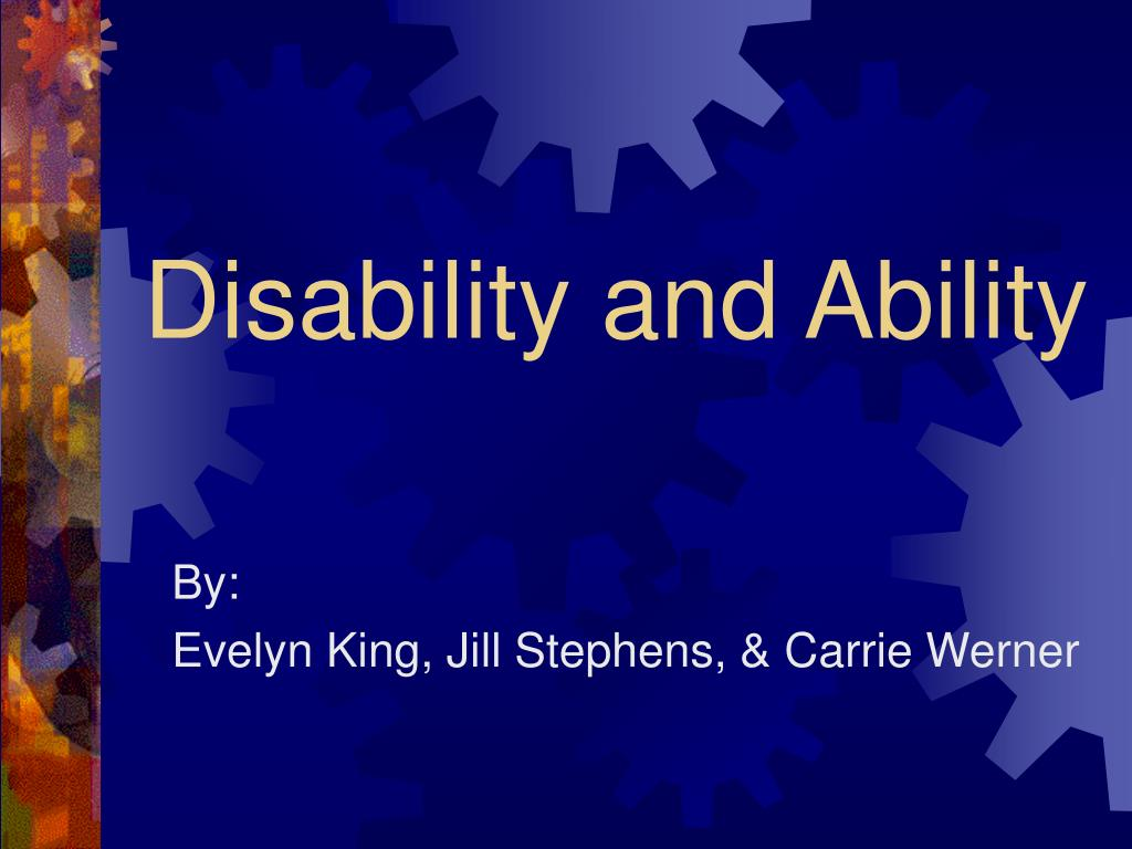 disability and ability l.