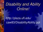 disability and ability online
