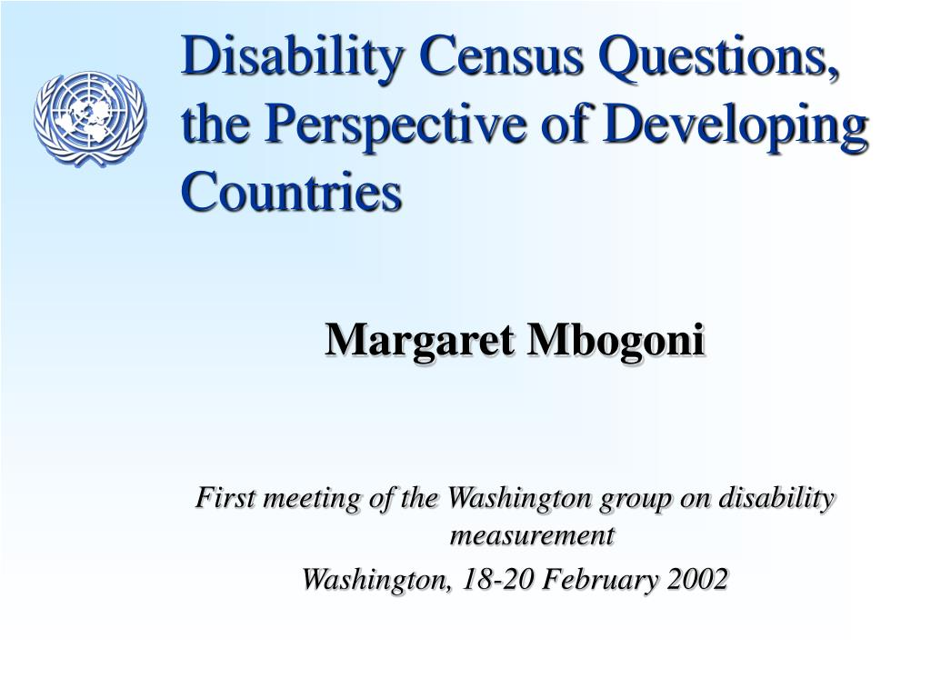 disability census questions the perspective of developing countries l.