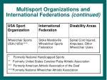 multisport organizations and international federations continued23