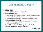 origins of adapted sport