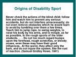 origins of disability sport
