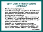 sport classification systems continued31