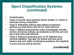 sport classification systems continued34