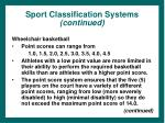sport classification systems continued37