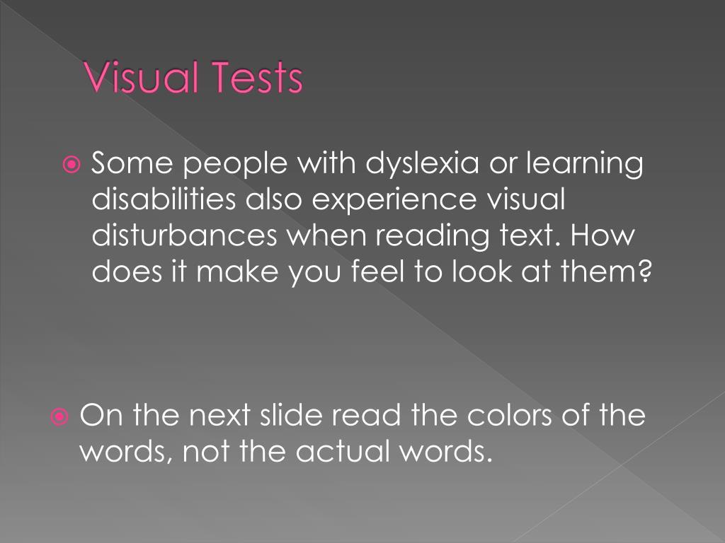 Visual Tests