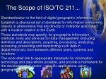 the scope of iso tc 211