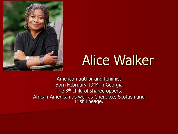 alice walker s everyday use feminist point of view