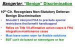 bangerter benign discrimination
