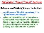 bangerter direct threat defense