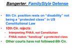 bangerter familystyle defense