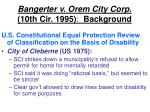 bangerter v orem city corp 10th cir 1995 background