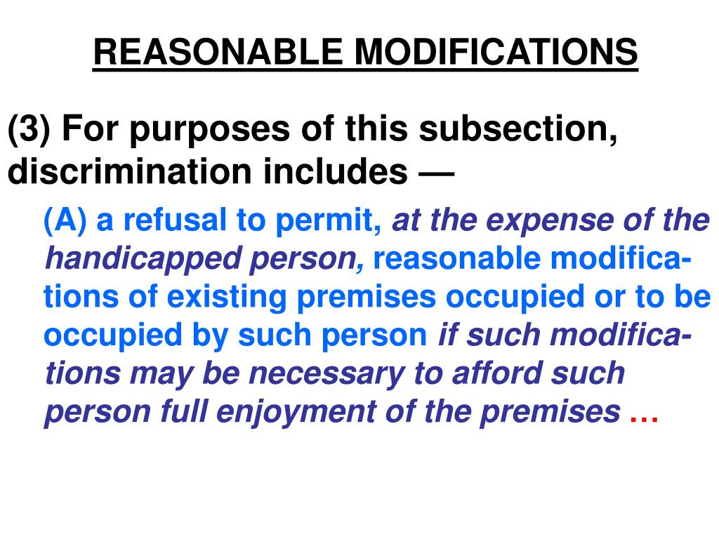 reasonable modifications l.
