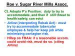 roe v sugar river mills assoc20