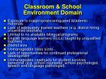 classroom school environment domain