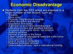 economic disadvantage