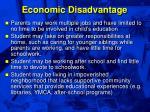 economic disadvantage47