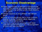 economic disadvantage48