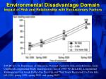 environmental disadvantage domain impact of risk and relationship with exclusionary factors