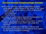 environmental disadvantage domain45