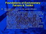 foundations of exclusionary factors toolkit12
