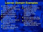 learner domain examples