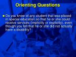 orienting questions9