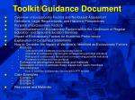 toolkit guidance document