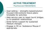 active treatment psychosocial interventions16