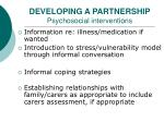 developing a partnership psychosocial interventions11