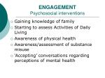 engagement psychosocial interventions
