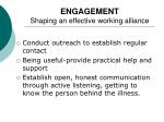 engagement shaping an effective working alliance