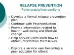 relapse prevention psychosocial interventions